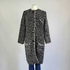 Zara Knit Black Sweater Jacket Size L